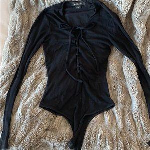 Marciano criss cross front bodysuit